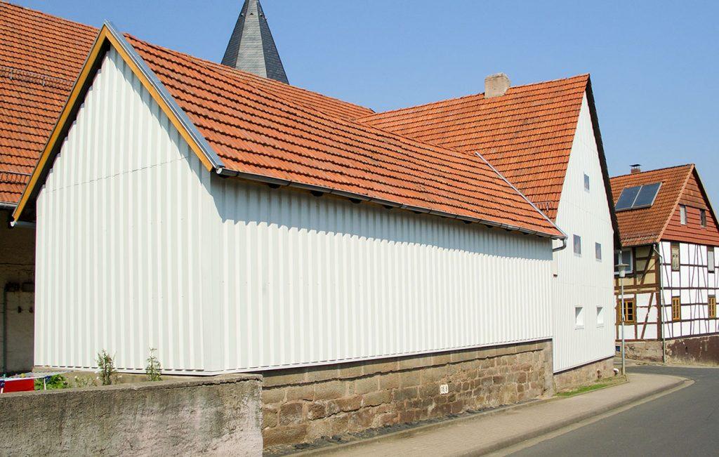 Fassadeverkleidung, Arbeit der Engelhardt Dach & Wand GmbH