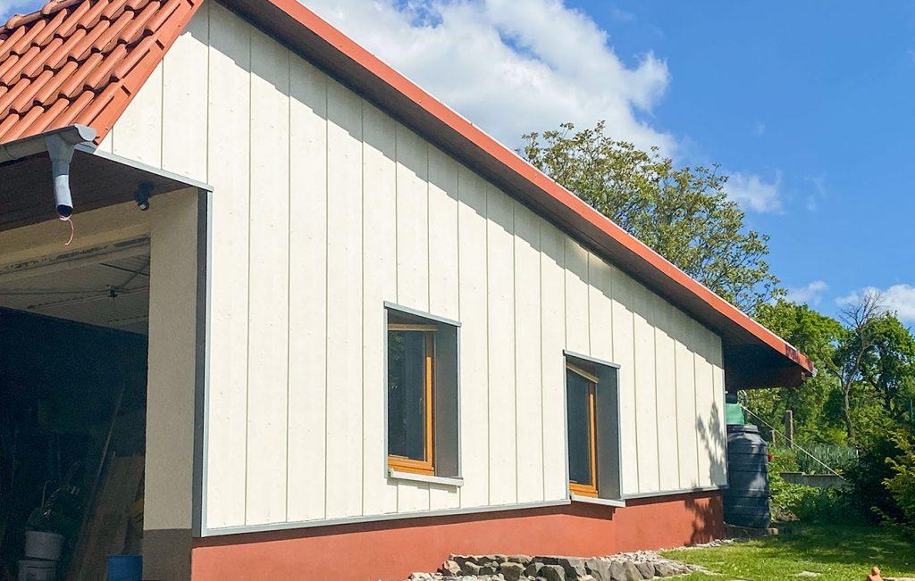 Fassadenverkleidung, Arbeit der Engelhardt Dach & Wand GmbH