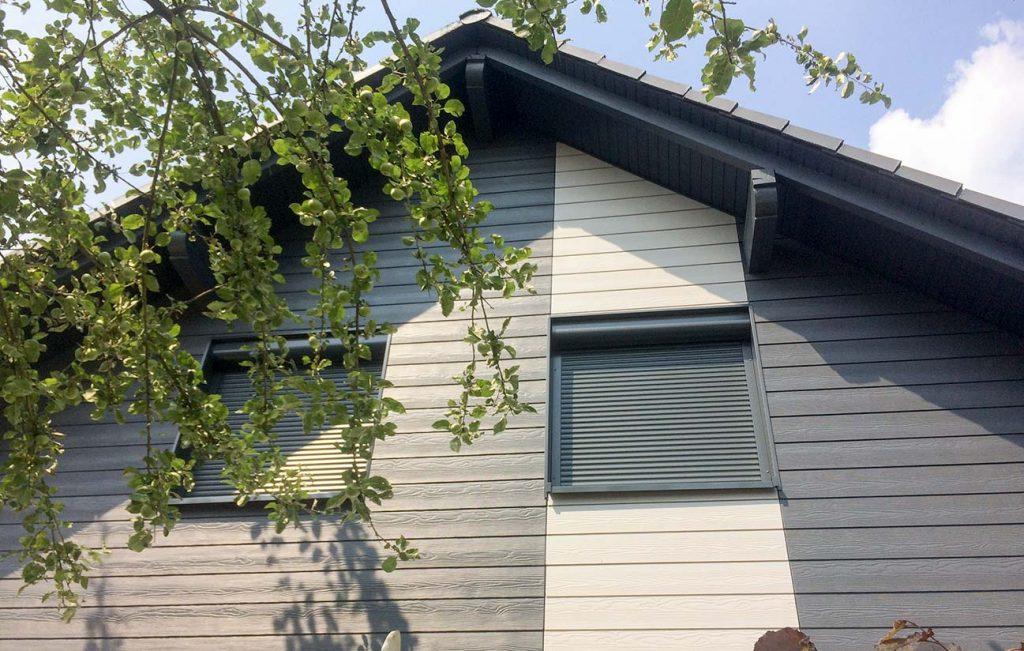 Fassadenverkleidung Holz, Arbeit der Engelhardt Dach & Wand GmbH