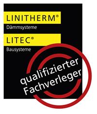 "LINITHERM-LITEC-Zertifikat ""qualifizierter Fachverleger"" der Engelhardt Dach & Wand GmbH"