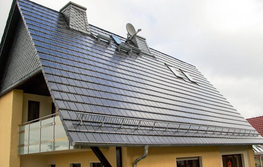 Steildach eines Wohnhauses in Heiligenstadt, Arbeit der Engelhardt Dach & Wand GmbH