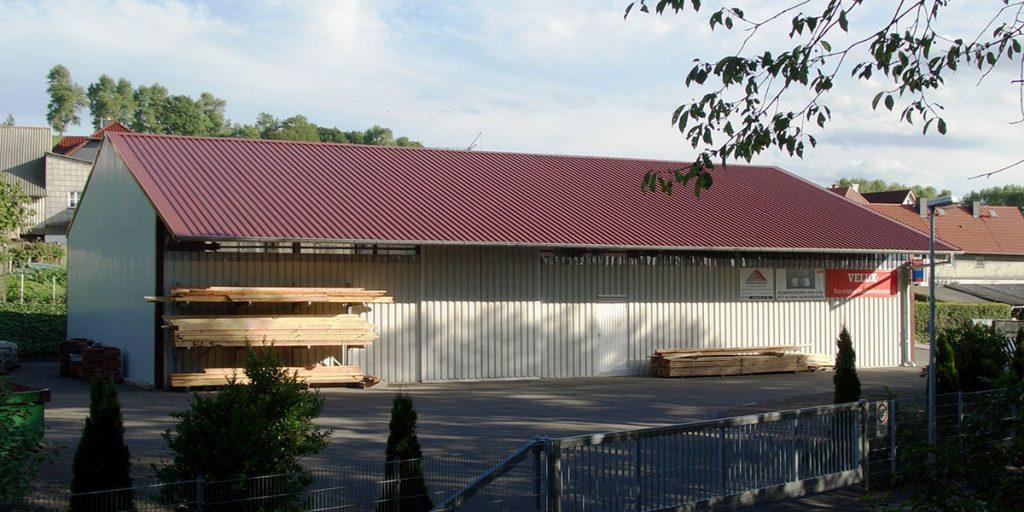 Längsansicht einer Halle der Engelhardt Dach & Wand GmbH