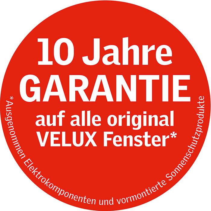 10Jahre Garantie auf Velux Dachfenster, Partner der Engelhardt Dach & Wand GmbH