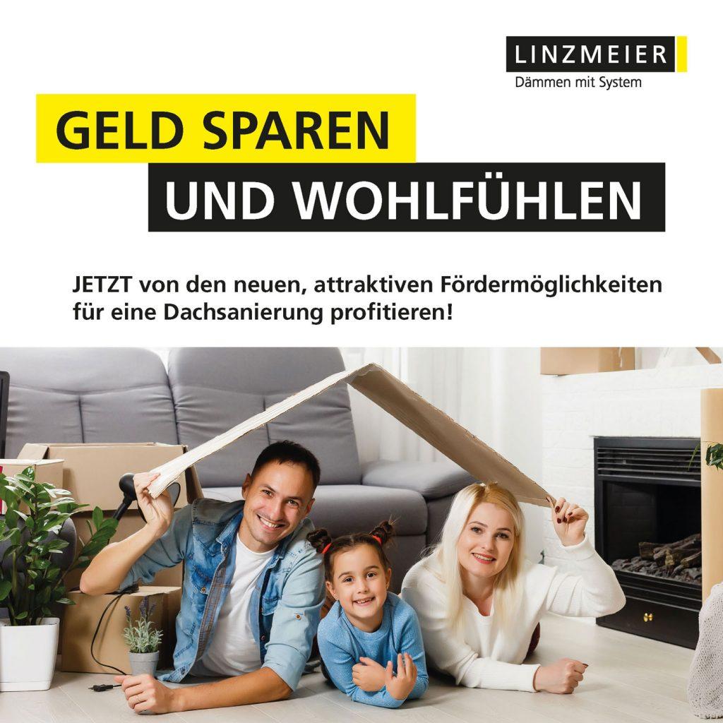 Förderungsflyer Seite 1 von LINZMEIER, Partner der Engelhardt Dach & Wand GmbH